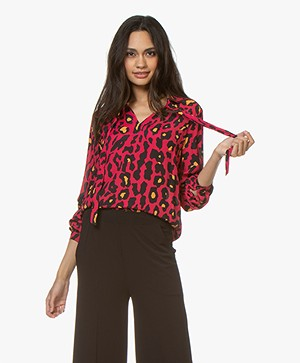 Josephine & Co Cerdic Blouse with Leopard Print - Magenta