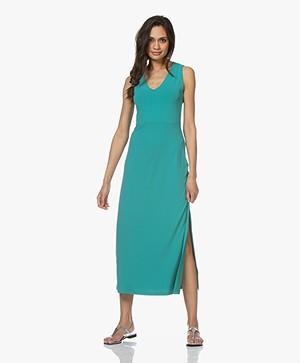 no man's land Crepe Jersey Maxi Dress - Persian Green