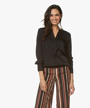 Filippa K Pull-on Silk Blouse - Zwart