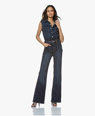 Current/Elliot The Zenith Denim Jumpsuit - Riptide