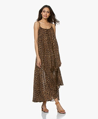 Mes Demoiselles Fetiche Leopard Print Dress - Brown