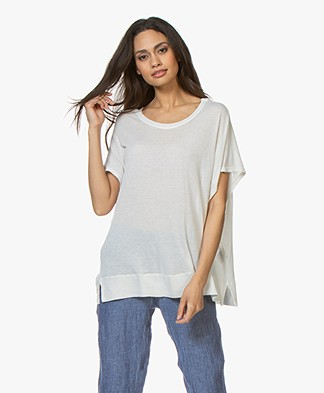 Fine Edge Oversized Wolmix T-shirt - Silver Grey