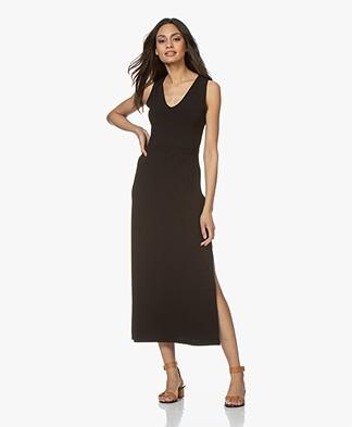 no man's land Crepe Jersey Maxi Dress - Core Black