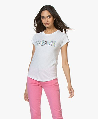 Zadig & Voltaire Skinny Love Print T-shirt - Wit
