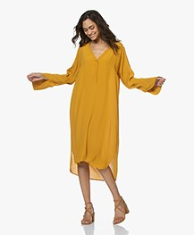 BY-BAR Fenne Crepe Kaftan Dress - Crown