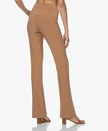 Norma Kamali Travel Jersey Boot Pant - Sun Tan