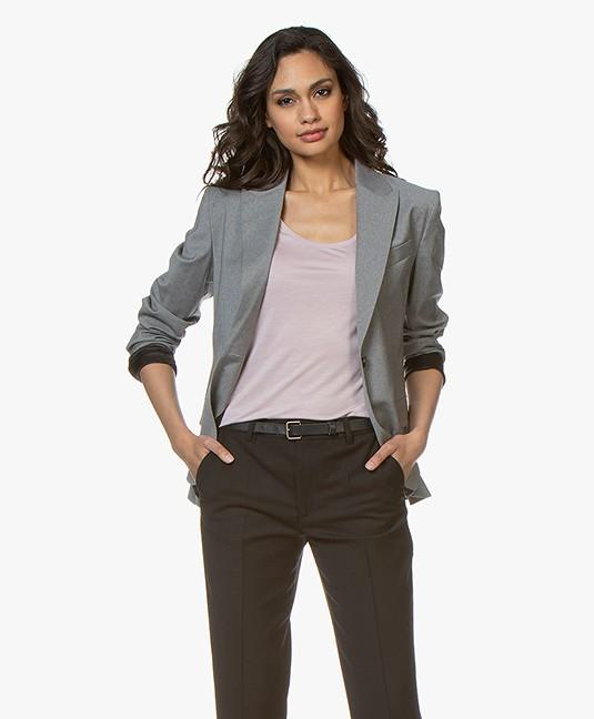 Filippa K Sasha Cool Wool Blazer - Light Grey