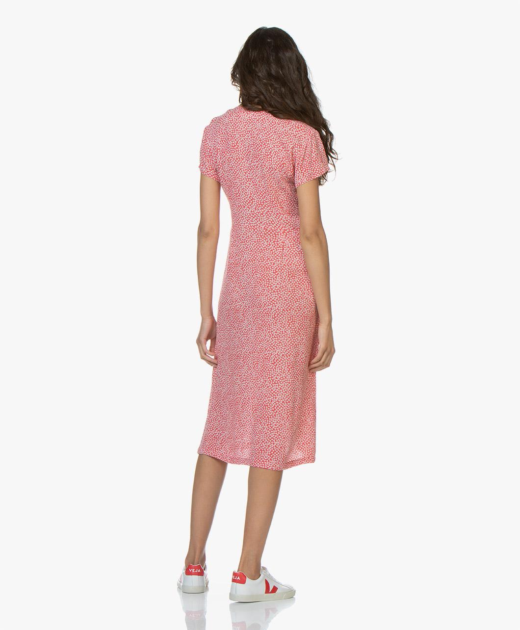 8e87c774339 indi   cold Floral Viscose Button-down Dress - Amapola - vv19mi520 217 -  amapola