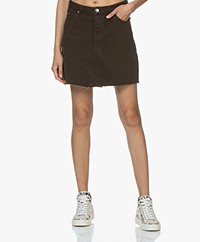 IRO Saiaun Denim A-line Mini Skirt - Black
