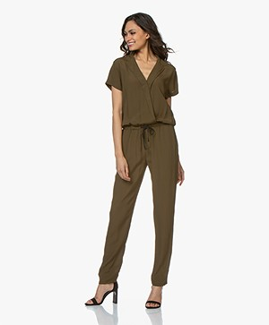 BY-BAR Boa Crêpe Jumpsuit - Earth