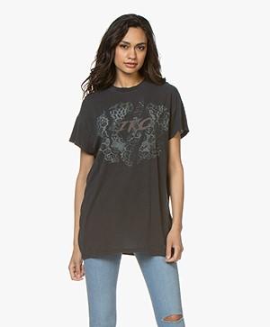 IRO Douro Lang Print T-shirt - Used Black