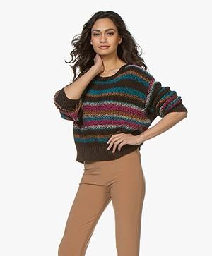 Closed Cotton Jacquard Sweater - Dark Pecan