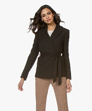 Filippa K Grace Belted Blazer - Black