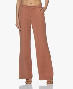 BY-BAR Elin Tencel Wide Leg Pants - Copper