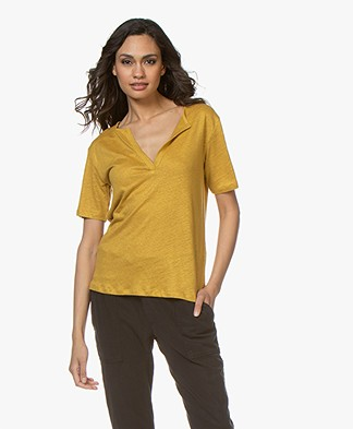 BY-BAR Loisa Linen T-shirt - Honey Bee
