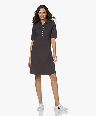 Belluna Pisaro Jersey Polo Dress - Navy/White