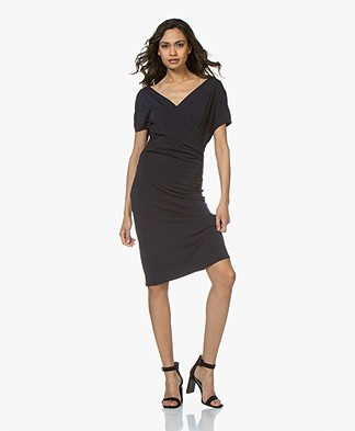By Malene Birger Crepe Jersey Wrap Dress - Night Sky