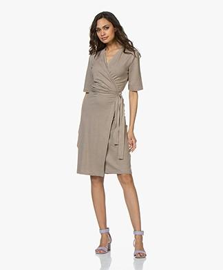 Filippa K Linen Wrap Dress - Greige