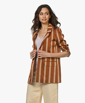 Closed Cox Striped Twill Blazer - Caramel