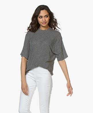 IRO Lost Lang Tencel T-Shirt - Smoke Grey