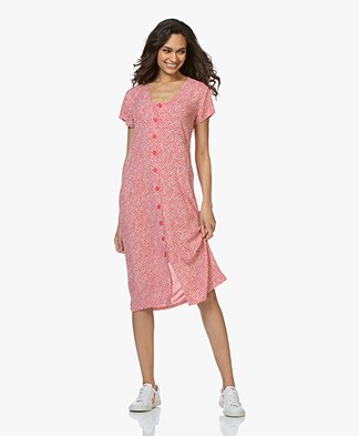 indi & cold Floral Viscose Button-down Dress - Amapola