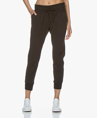 James Perse Mixed Media Pant - Black