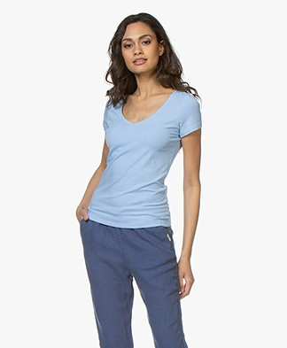 Josephine & Co Charl Cotton T-shirt - Light Blue