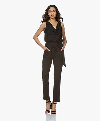 no man's land Travel Jersey Jumpsuit - Dark Sapphire