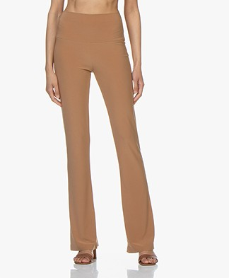 Norma Kamali Travel Jersey Boot Pant - Sun Tan