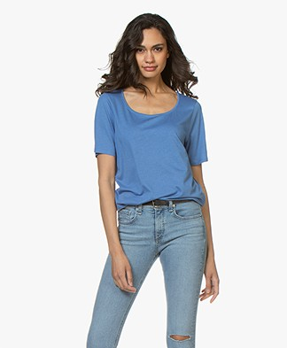 Repeat Jersey Lyocell Mix T-shirt - Blue Jeans