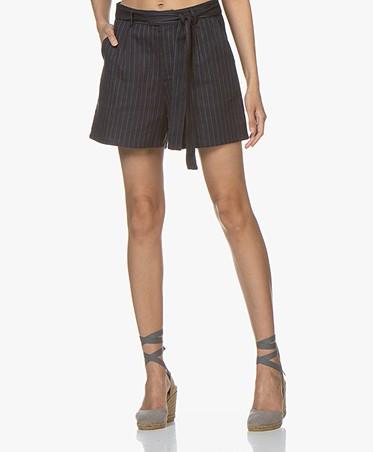 Marie Sixtine Mathis Pinstripe Shorts - Sailor