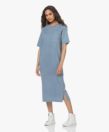 Drykorn Takena Garment Dyed Jersey T-shirtjurk - Blauw