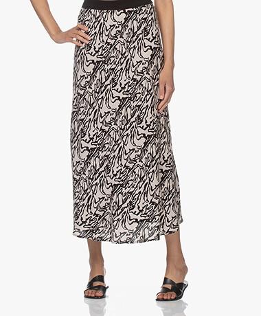By Malene Birger Biellas A-line Print Skirt - Greige