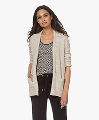 indi & cold Linen Blend Open Cardigan - Crudo