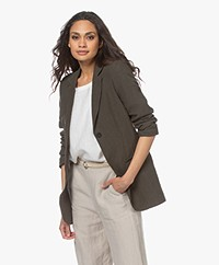 Woman by Earn Maan Linnen Blazer - Charcoal