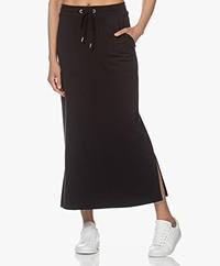 JapanTKY Fugi Tencel Jersey Maxi Skirt - Deep Black