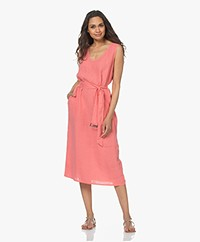 Josephine & Co Laurance Sleeveless Linen Dress - Coral