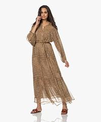 Mes Demoiselles Cartier Printed Maxi Dress - Tan Combo