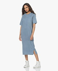 Drykorn Takena Garment Dyed Jersey T-shirt Dress - Blue