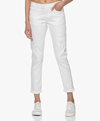 Denham Monroe Girlfriend Fit Jeans - White