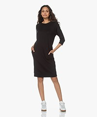 JapanTKY Meta Lyocell Blend Jersey Sweater Dress - Deep Black