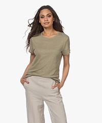 Filippa K Hazel Linnen T-shirt - Sage Green