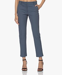 Joseph New Eliston Gabardine Stretch Pants - Blue Steel