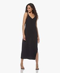 Shades Antwerp Dina Muslin Dress with Slit - Black