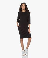 JapanTKY Meta Lyocell Blend Jersey Sweater Dress - Deep Black
