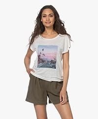 MKT Studio Thomson Linnen Print T-shirt - Krijt