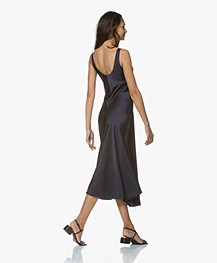Filippa K Long Satin Slip Dress - Navy