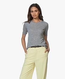 Joseph Cashair Pure Cashmere T-shirt - Grey Melange