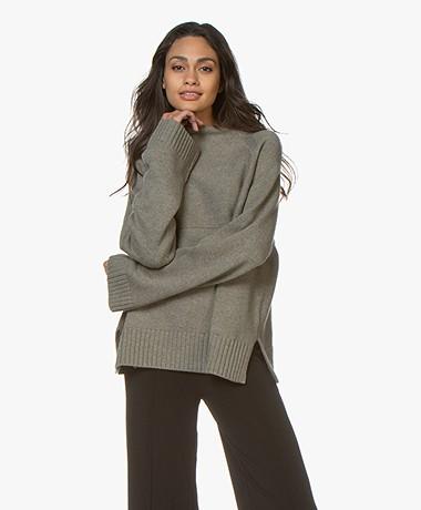 By Malene Birger Brianne Wool Blend Sweater - Olive Night