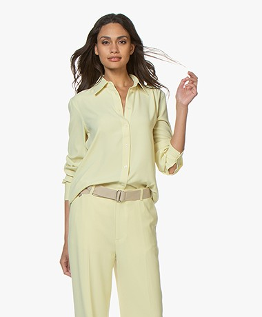 Filippa K Long Crepe Blouse - Wax